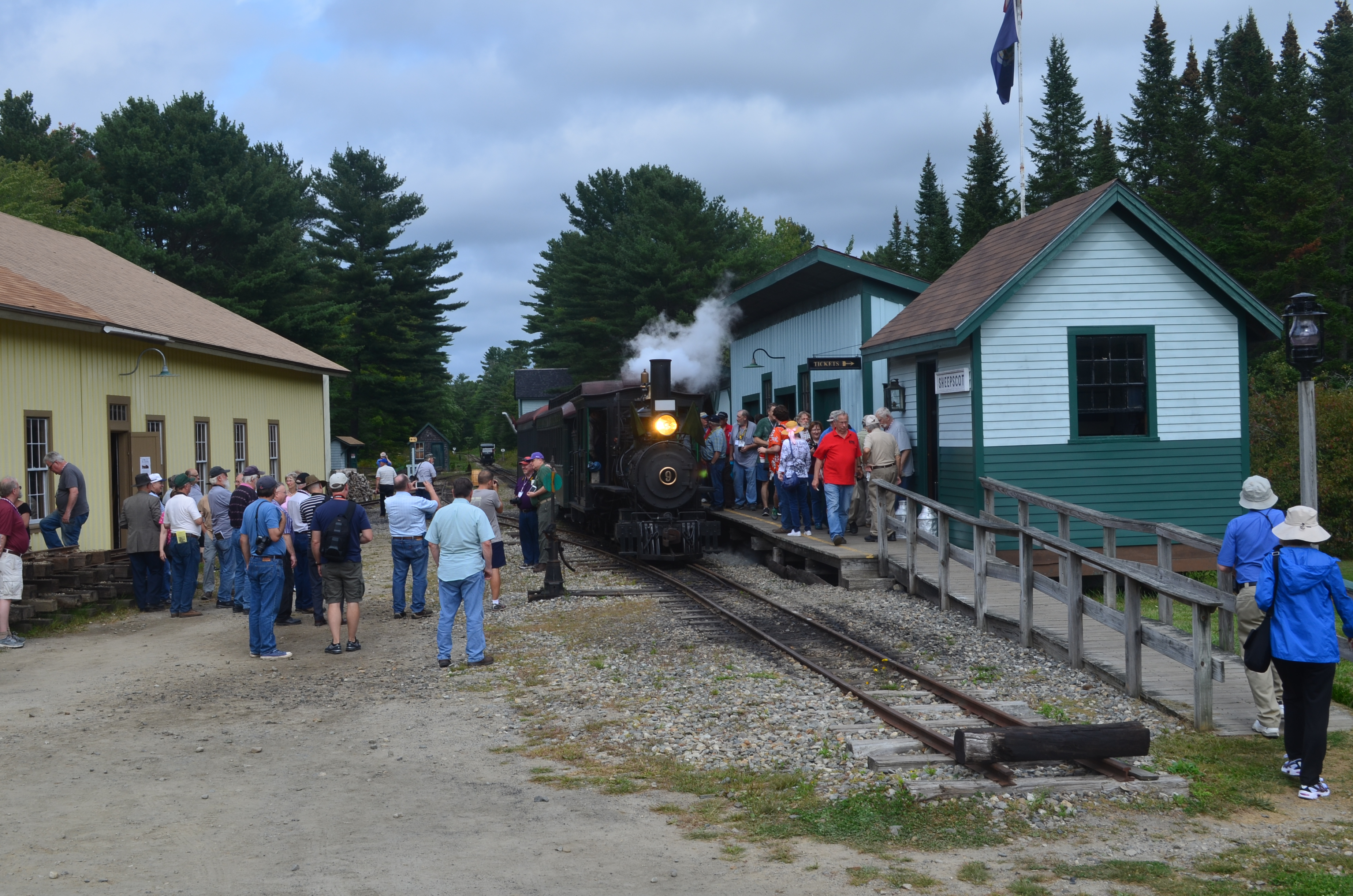Many attendees of the National Narrow Gauge Convention in Augusta visited the week of September 4