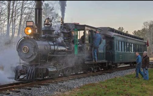 Locomotive #9 in steam for the first time since 1933.