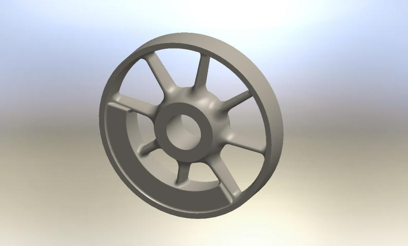 Here is a 3-D rendering of one of the drivers for No. 11, which is among components that will be cast in the new year.