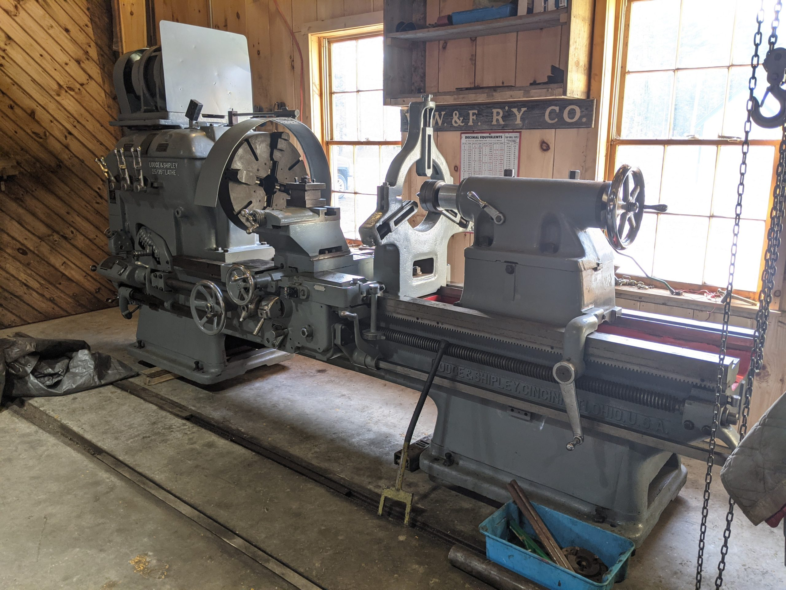 Lodge and Shipley lathe