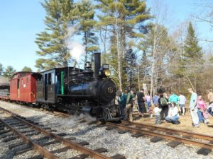 Families celebrate spring with an Easter egg hunt at the WW&F Railway in Alna, Maine.